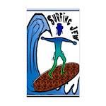 Surfing Jew Rectangle Sticker