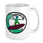 Surfing Jew Large Mug