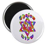 "Tiedye Shalom 2.25"" Magnet (100 pack)"