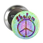 """Shalom Peace 2.25"""" Button (10 pack)"""