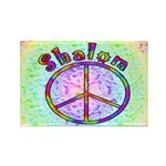 Shalom Peace Rectangle Magnet