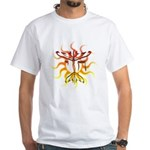 Chai Menorah Sun White T-Shirt