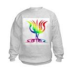 Rainbow Menorah Kids Sweatshirt