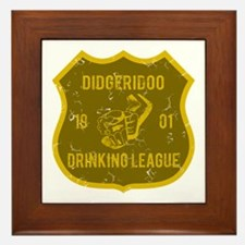 Didgeridoo Drinking League Framed Tile