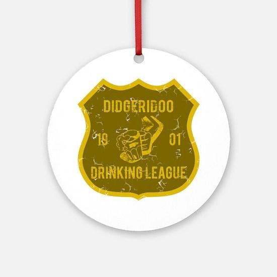 Didgeridoo Drinking League Ornament (Round)
