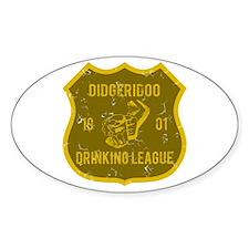 Didgeridoo Drinking League Oval Decal