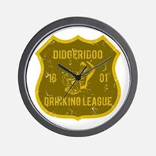 Didgeridoo Drinking League Wall Clock