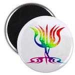 Rainbow Menorah Magnet