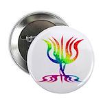 "Rainbow Menorah 2.25"" Button (100 pack)"