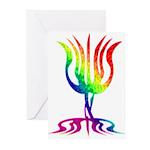 Rainbow Menorah Greeting Cards (Pk of 10)