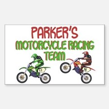 Parker's Motorcycle Racing Rectangle Decal