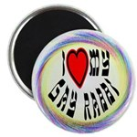 "I Love My Gay Rabbi 2.25"" Magnet (100 pack)"
