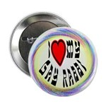 "I Love My Gay Rabbi 2.25"" Button (100 pack)"