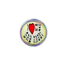 I Love My Gay Rabbi Mini Button