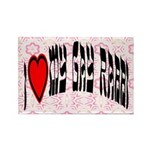 I Love My Gay Rabbi Rectangle Magnet (100 pack)