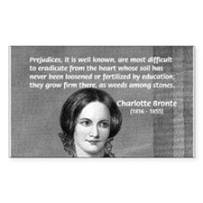 Novelist Charlotte Bronte Rectangle Decal