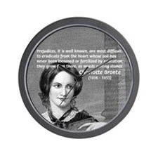 Novelist Charlotte Bronte Wall Clock