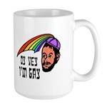 Oy Vey I'm Gay Large Mug