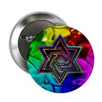 "Chiseled Magen David 2.25"" Button (100 pack)"
