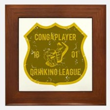 Conga Player Drinking League Framed Tile