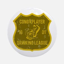 Conga Player Drinking League Ornament (Round)