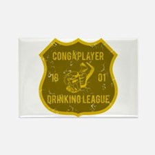Conga Player Drinking League Rectangle Magnet