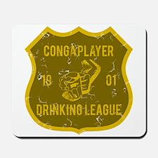 Conga Player Drinking League Mousepad