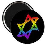 Rainbow Star of David Magnet