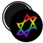 "Rainbow Star of David 2.25"" Magnet (10 pack)"