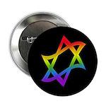 "Rainbow Star of David 2.25"" Button"