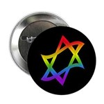 "Rainbow Star of David 2.25"" Button (10 pack)"