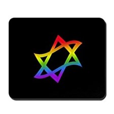 Rainbow Star of David Mousepad