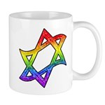 Rainbow Star of David Mug