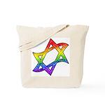 Rainbow Star of David Tote Bag