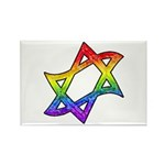 Rainbow Star of David Rectangle Magnet (10 pack)