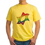 Rainbow Star of David Yellow T-Shirt