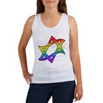Rainbow Star of David Women's Tank Top