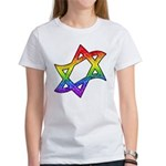Rainbow Star of David Women's T-Shirt