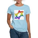 Rainbow Star of David Women's Light T-Shirt