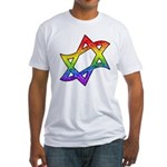 Rainbow Star of David Fitted T-Shirt