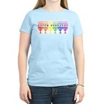 Rainbow Happy Chanukah Women's Pink T-Shirt