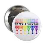 Rainbow Happy Chanukah Button