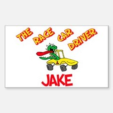 Jake Race Car Driver Rectangle Decal