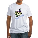 Chappy Chanukah Fitted T-Shirt