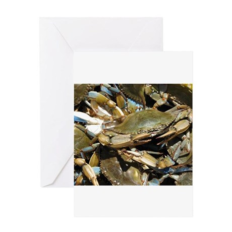 Blue Crabs Greeting Card