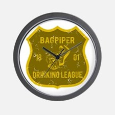 Bagpiper Drinking League Wall Clock