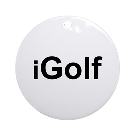 iGolf Ornament (Round)