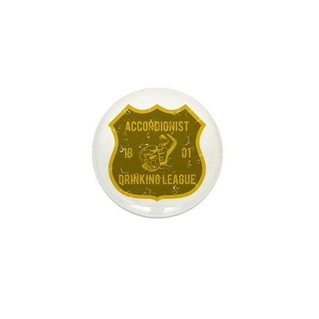 Accordionist Drinking League Mini Button