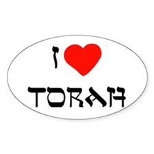 I Heart Torah Oval Decal