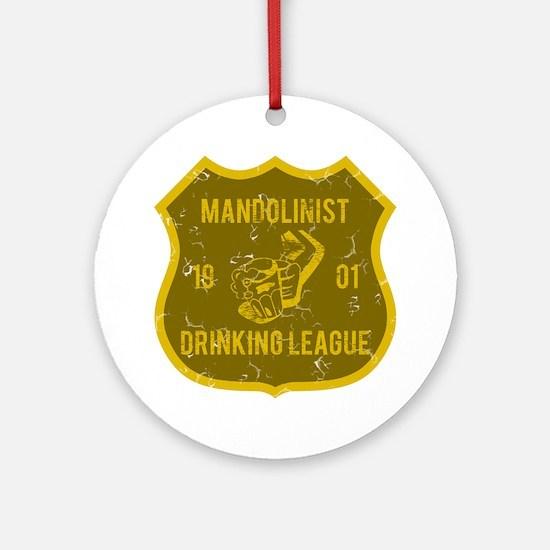 Mandolinist Drinking League Ornament (Round)